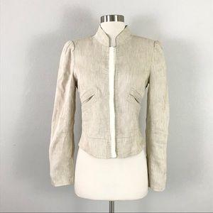 Armani Collezioni 6 Blazer Jacket Flax Linen Cream